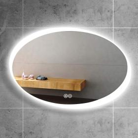 Miroir éclairant LED ovale, 100x70 cm, Eclipse