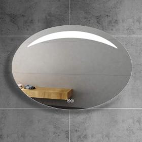Miroir lumineux LED demi-lune, 100x70 cm, Luna100