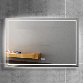 Miroir biseauté LED, 80x60 à 120x60 cm, Class