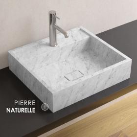 Vasque en marbre Carrara, 50x45 cm, Marino
