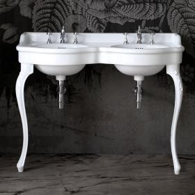 Console lavabo double vasque, 120 cm, Queen