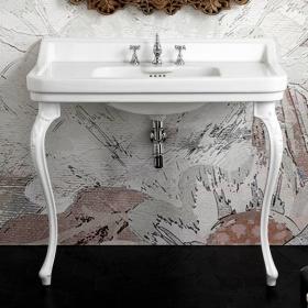 Lavabo console simple, 3 trous, 105 cm, Venice