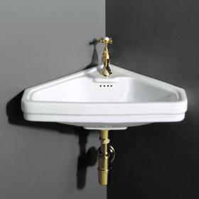 Lave-mains d'angle 45cm, céramique, Albano