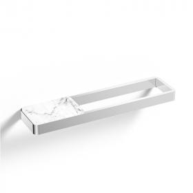 Porte serviette 45cm avec tablette finition marbre blanc, Infinity Elements
