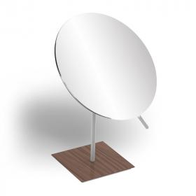 Miroir cosmétique de table, finition blanc, Infinity Elements