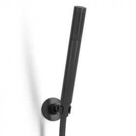 Douchette à main avec support et flexible, noir satiné, Century