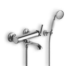 Robinet mitigeur bain-douche avec set de douche, Chrome, Liberty