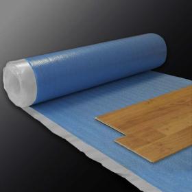 Sous-couche acoustique haute densité avec film pare-vapeur intégré, longueur 15 m