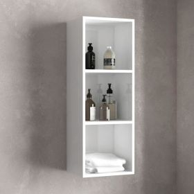 Demi-colonne de rangement 92cm, Blanc Brillant, Essentiel