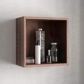 Cube de rangement ouvert 33x33 cm, bois Britannia, Cubo