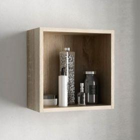 Cube de rangement ouvert 33x33 cm, bois Cambrian, Cubo