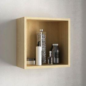 Cube de rangement ouvert 33x33 cm, Chêne clair, Cubo