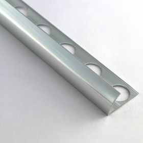 Profilé aluminium 1/4 de rond 12.5mm 260cm, 2 coloris