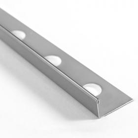 Profilé inox en L 2 hauteurs, 10mm et 12mm en 260cm