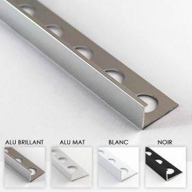 Profilé aluminium en L 4 coloris 12mm 260cm