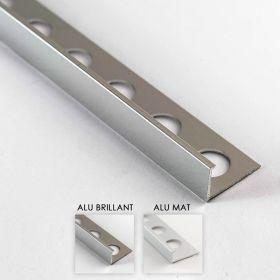 Profilé aluminium en L 2 coloris 10mm 260cm
