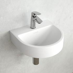 Lave-mains 38 x 36 cm, matière composite, Mineral