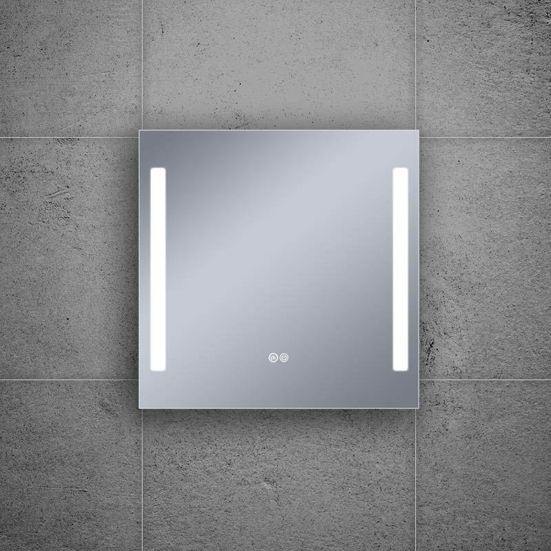 Miroir éclairant LED, 80x80cm, Luce