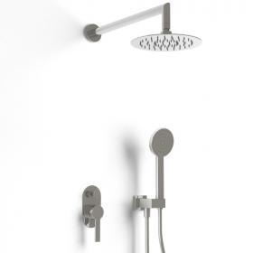 Composition mitigeur de douche encastré chromé, Louvre