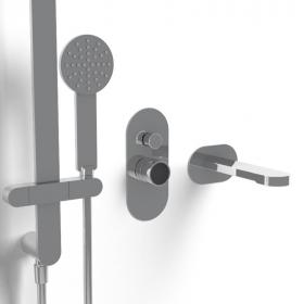 Composition mitigeur bain, personnalisable , Flow round