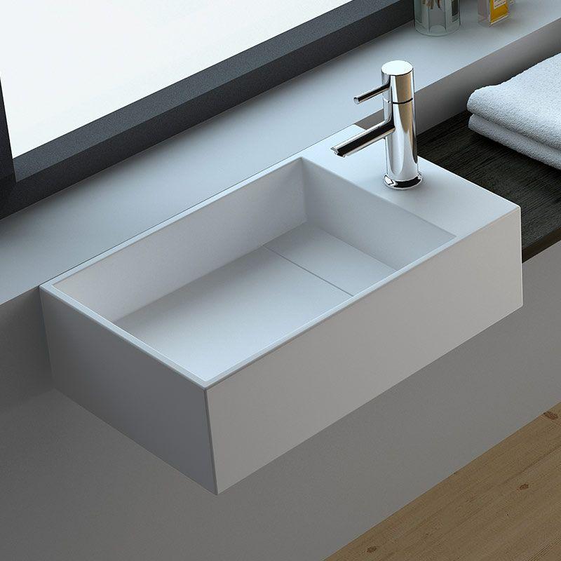 Lave-mains suspendu 40x20 cm, droite ou gauche, Small