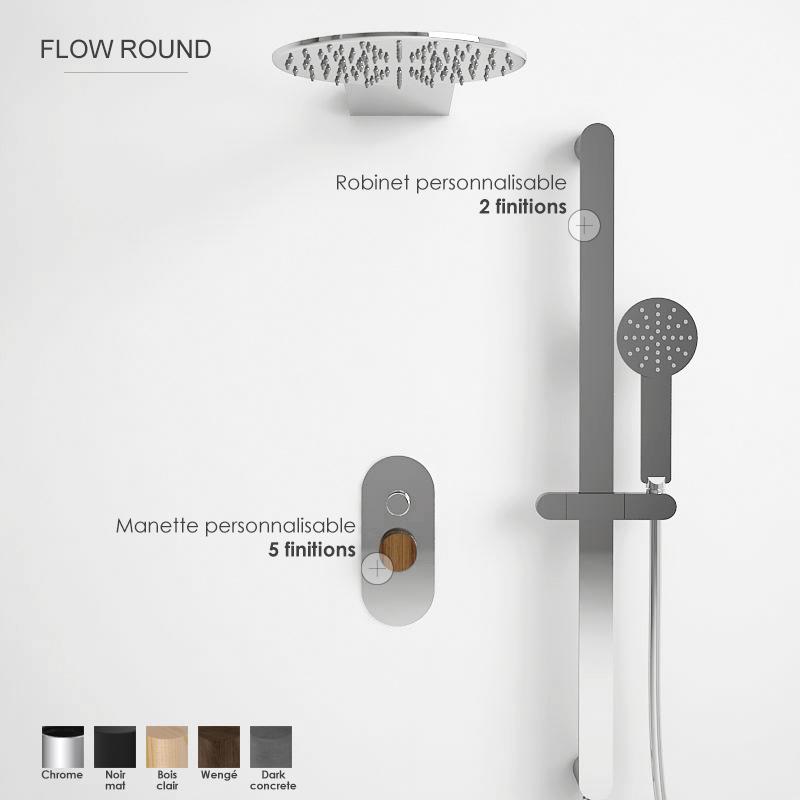Composition mitigeur douche, personnalisable, Flow round