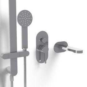 Pack mitigeur bain-douche à encastrer, chromé, Infinity Flow