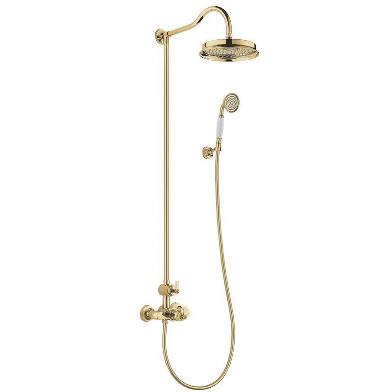Liberty, colonne de douche thermostatique doré