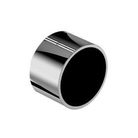 Manette pour mitigeur encastré Flow Round, Chrome insert verre noir