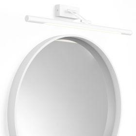 Pack miroir en composite minérale, Rond et applique murale blanche, Magda