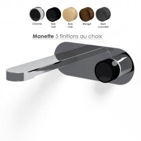 Mitigeur Lavabo encastré, chromé, manette personnalisable, Flow Round