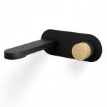 Mitigeur Lavabo encastré, noir mat, manette personnalisable, Flow Round