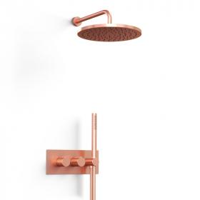 Composition thermostatique de douche encastrée or rose mat, Carrousel