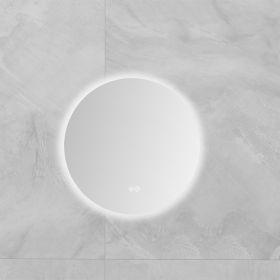 Miroir lumineux LED salle de bain rond, antibuée, 40 cm, Roundy