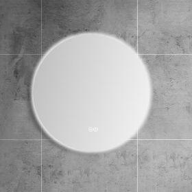 Miroir lumineux LED salle de bain rond, antibuée, 50 cm, Roundy