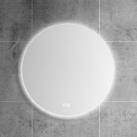 Miroir lumineux LED salle de bain rond, antibuée, 60 cm, Roundy