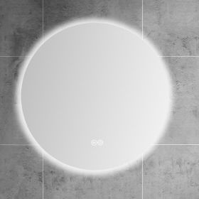 Miroir lumineux LED salle de bain rond, antibuée, 80 cm, Roundy