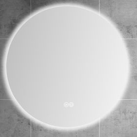 Miroir lumineux LED salle de bain rond, antibuée, 100 cm, Roundy