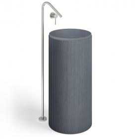 Lavabo à poser béton, 40x85cm, gris anthracite, Totem