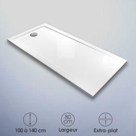 Receveur de douche 80x100, 120 ou 140 cm, acrylique, Bora