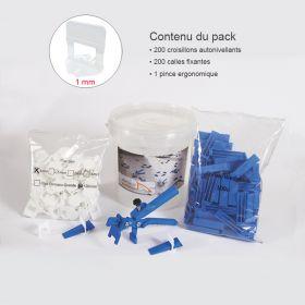 Kit croisillons autonivelants 1MM X200 pince metal