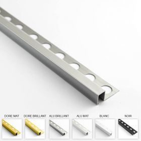 Profilé aluminium en L 6 coloris 12mm 260cm