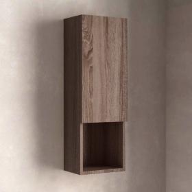 Colonne de rangement semi-ouverte 76cm, bois foncé Britannia, Max
