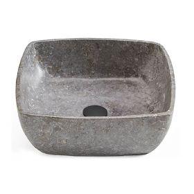 Vasque à poser en marbre gris 40x40 cm, Cusco
