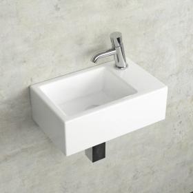 Lave-mains suspendu, droite ou gauche, 37x23,5 cm, Pure