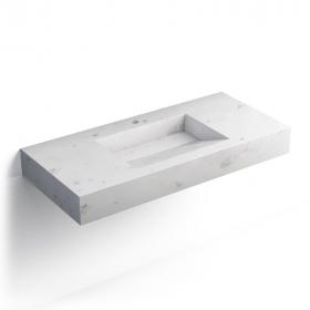 pierre Calacatta, Plan vasque salle de bain suspendu 101x46 cm