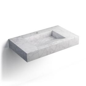 Pierre Carrara Plan vasque salle de bain suspendu 81x46 cm