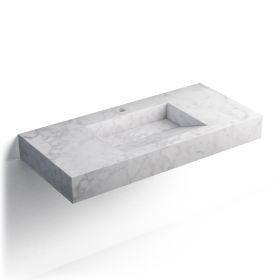 Pierre Carrara Plan vasque salle de bain suspendu 101x46 cm