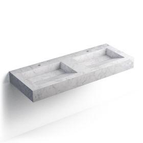 Pierre Carrara Plan double vasques salle de bain suspendu 121x46 cm
