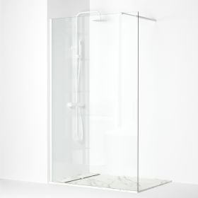 Paroi de douche fixe avec profilé blanc, 100 à 120 cm, Walk In
